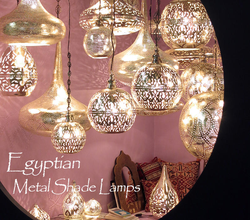 Morocco metal lamps