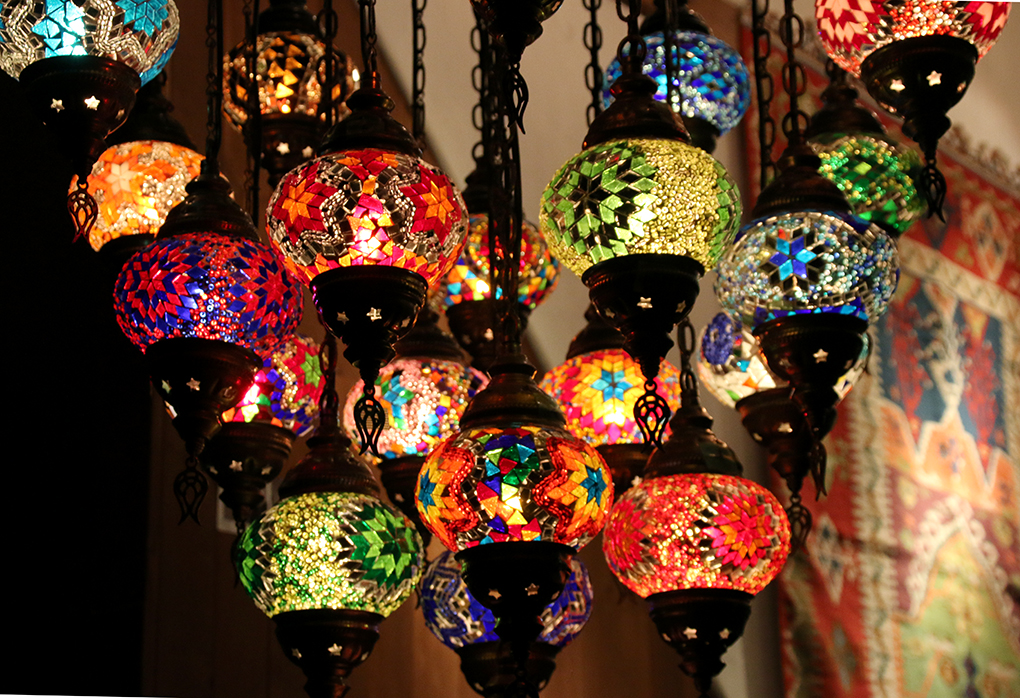 Turkish Mozaic Lamps, Color lights, Turkish Lamps
